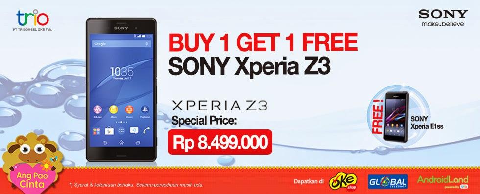 BOGO Sony Xperia Z3 Bonus Xperia E1 SS
