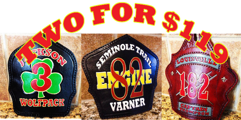 Two custom helmet shields for $119