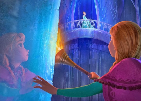 Anna Elsa Ice Palace Frozen Disney Animatedfilmreviewsfilminspector
