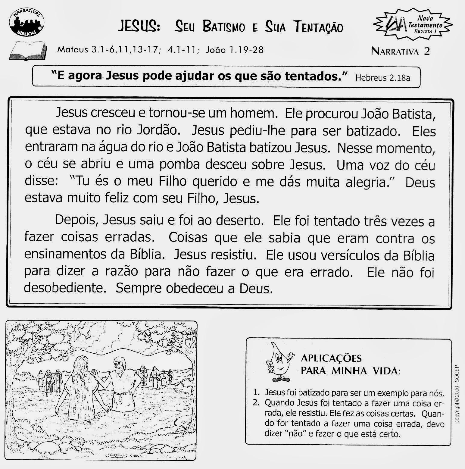 Conhecido Tias da Escolinha - Ministério Infantil: O Batismo de Jesus! UB02