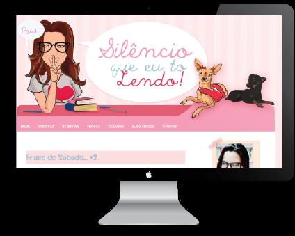 """Template do Blog """"Silêncio que eu tô Lendo"""" by Jéssica Guedes ( http://www.jessicaguedes.com )"""