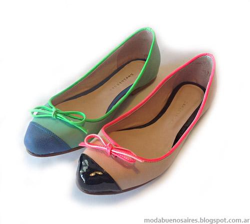 c808c53196433 Aquí las imágenes de algunos de los modelos de la propuesta Amada  Ballerinas primavera verano 2013.