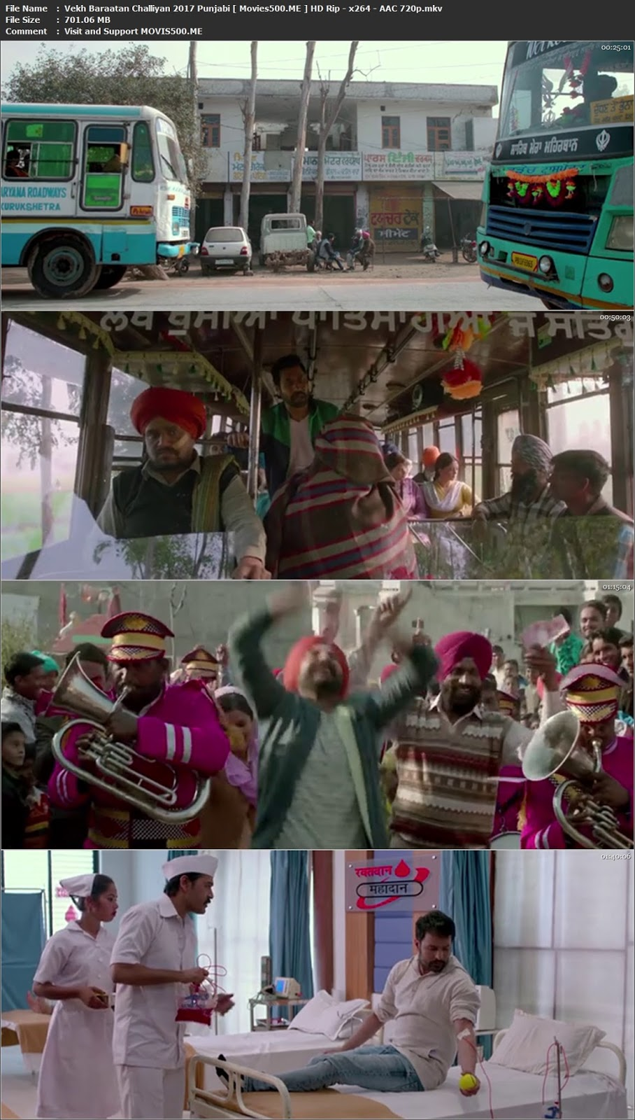 Vekh Baraatan Challiyan 2017 Punjabi Movie HDRip 720p at freedomcopy.com