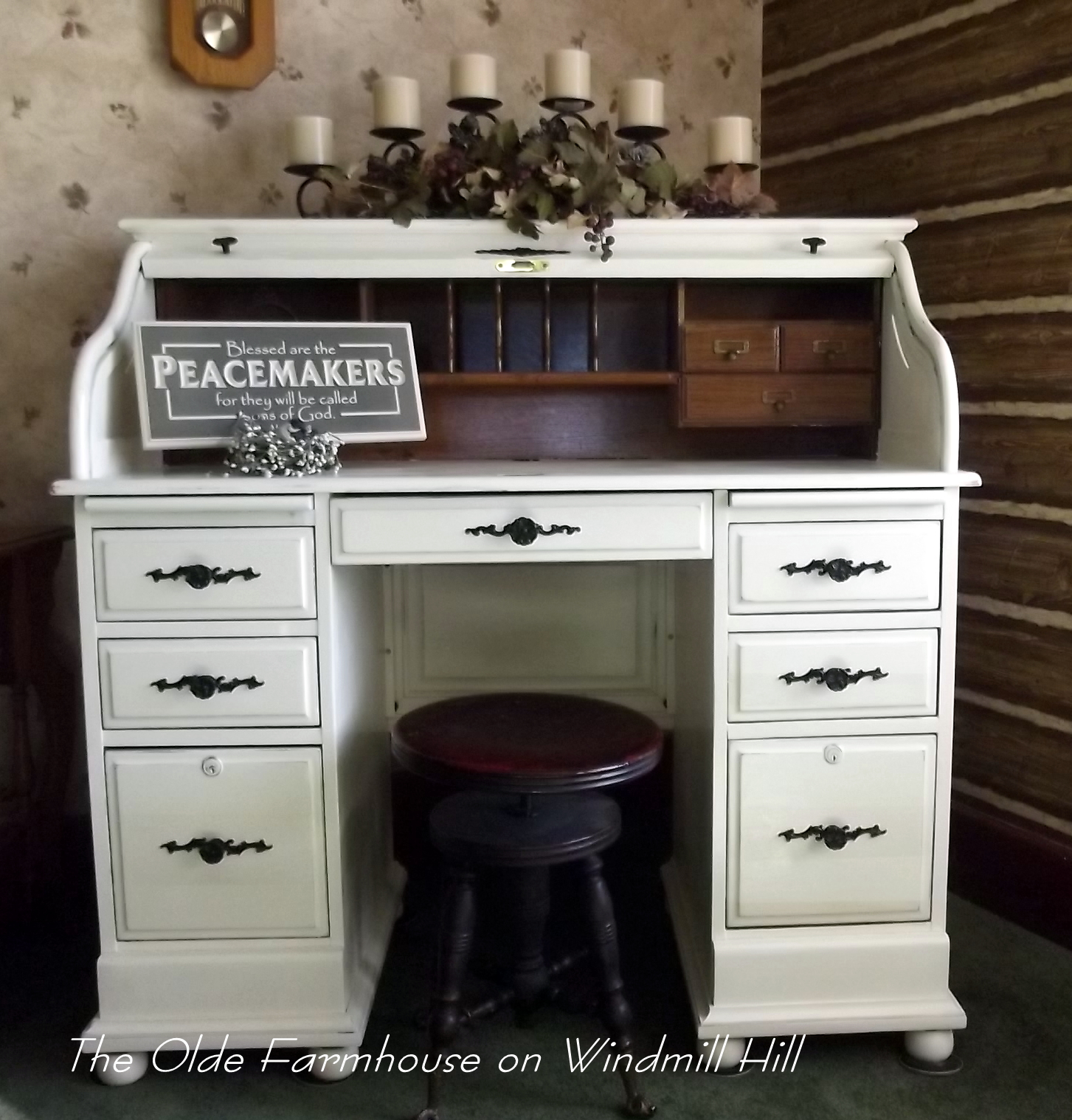 The Olde Farmhouse on Windmill Hill: Desk Makeover~How to ...