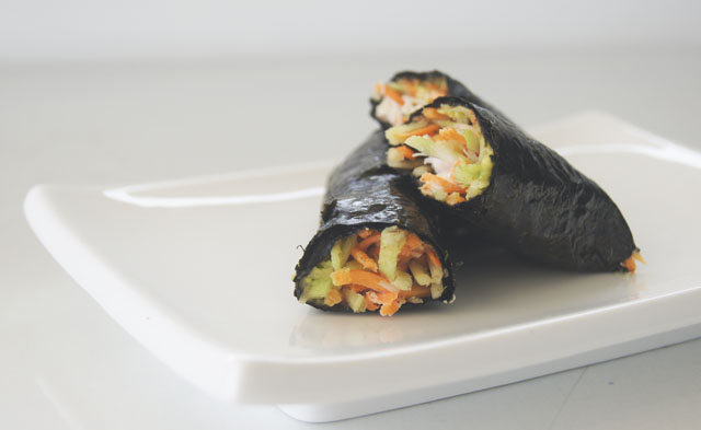 healthy nori roll lunch