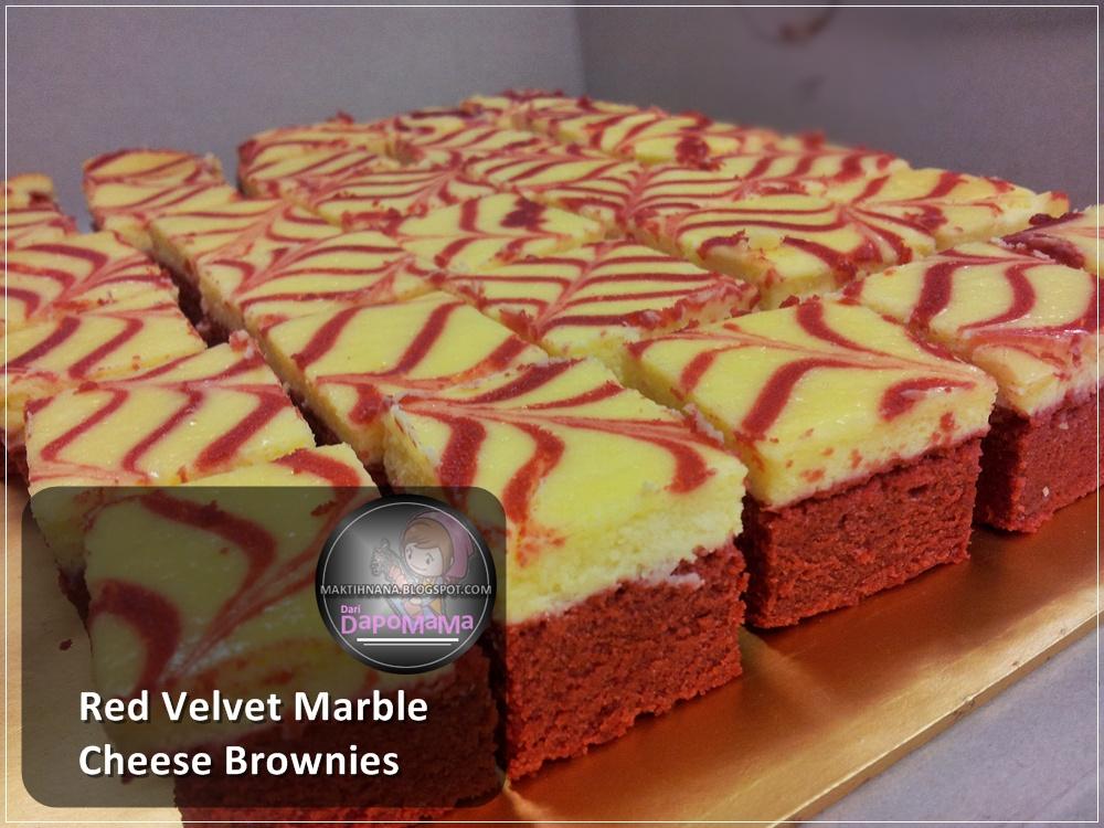 Di SaaT WaKTu BeRHeNTi...: RED VELVET MARBLE CHEESE BROWNIES