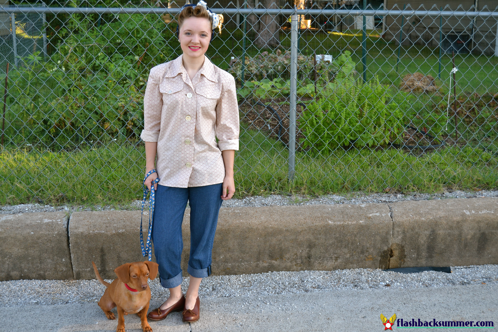 Flashback Summer: Late 40s Vintage Casual Outfit - Simplicity 2684