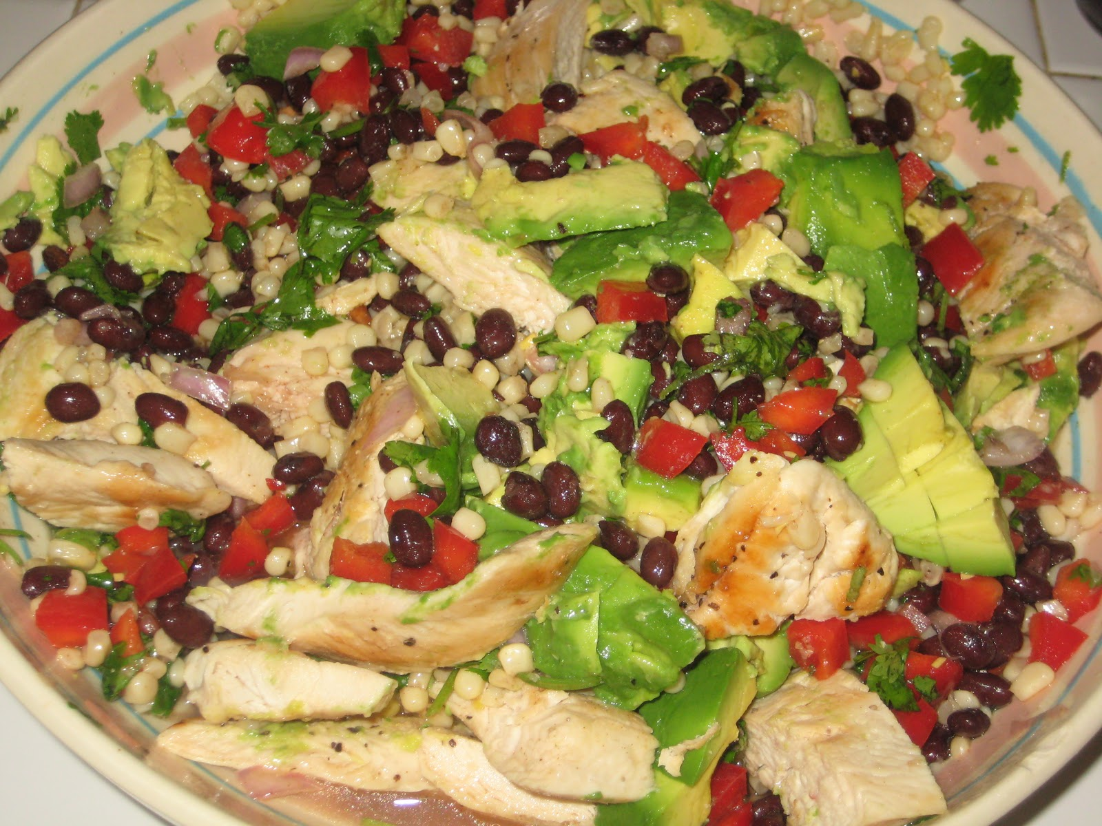 ... Chicken, Avocado and Black Bean Salad with Lime Cilantro Vinaigrette