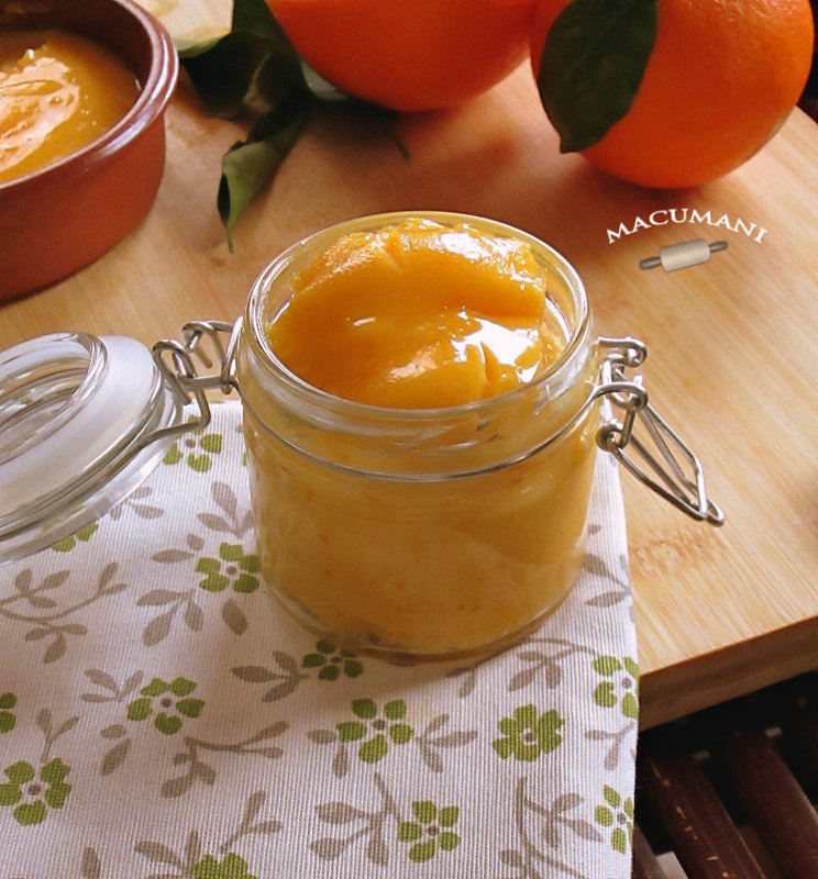 Crema de naranja para rellenos . Macumani