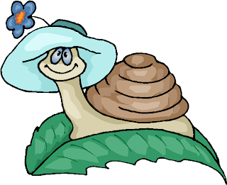 Snail with Hat Free Clipart