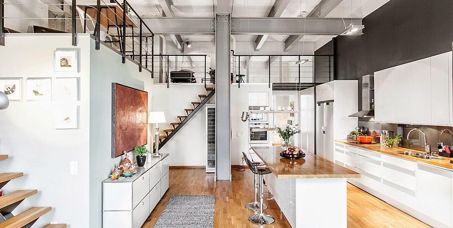 Un loft su due livelli coffee break the italian way of for Arredare loft open space
