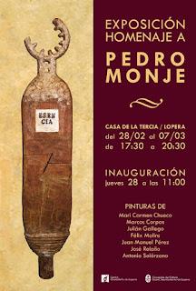 Cartel exposición homenaje pedromonje.2013