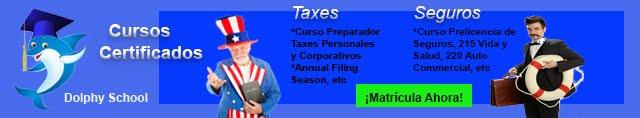 Cursos Taxes y PreLicencia de Seguros Miami y Florida