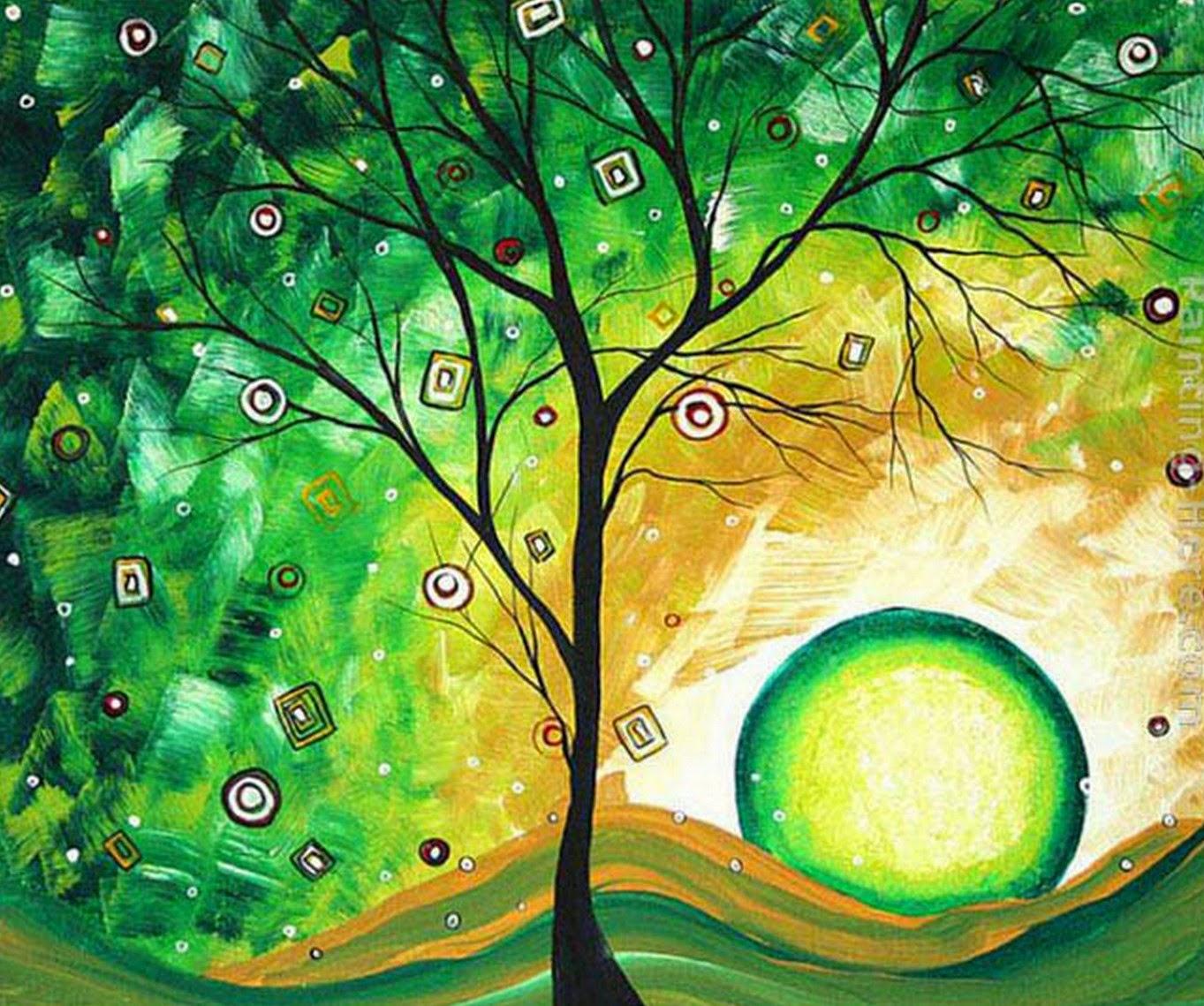 pinturas-modernas-con-arboles