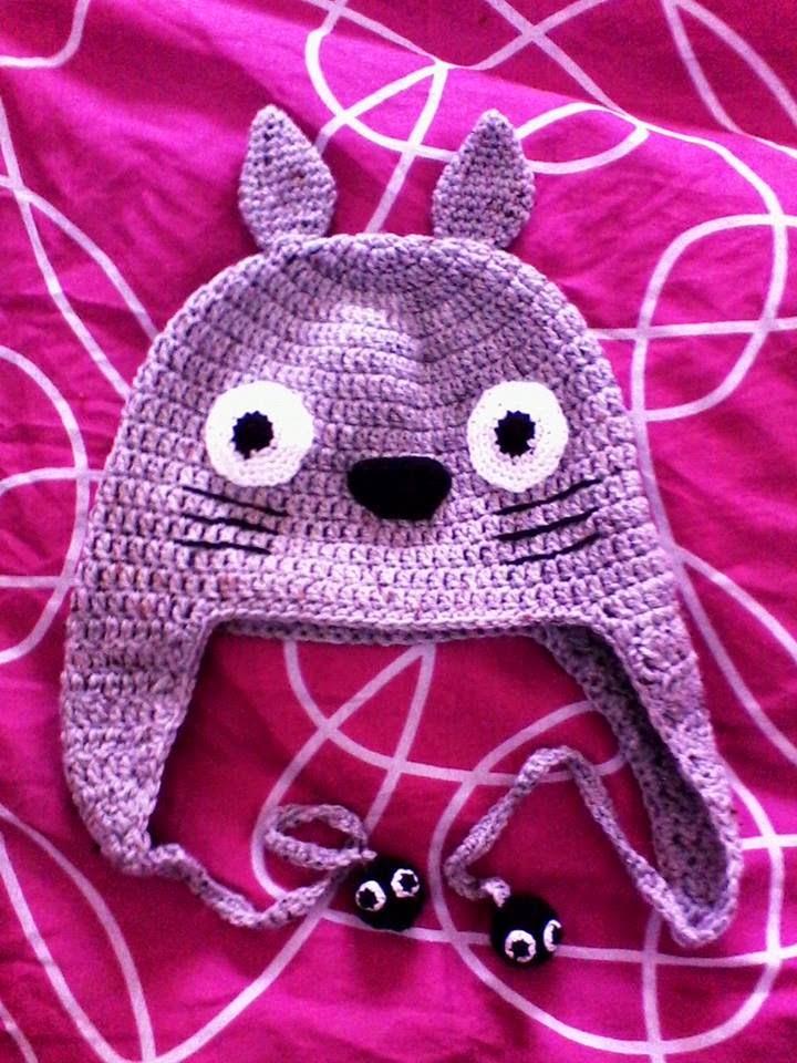Gorro Totoro  ganchillo