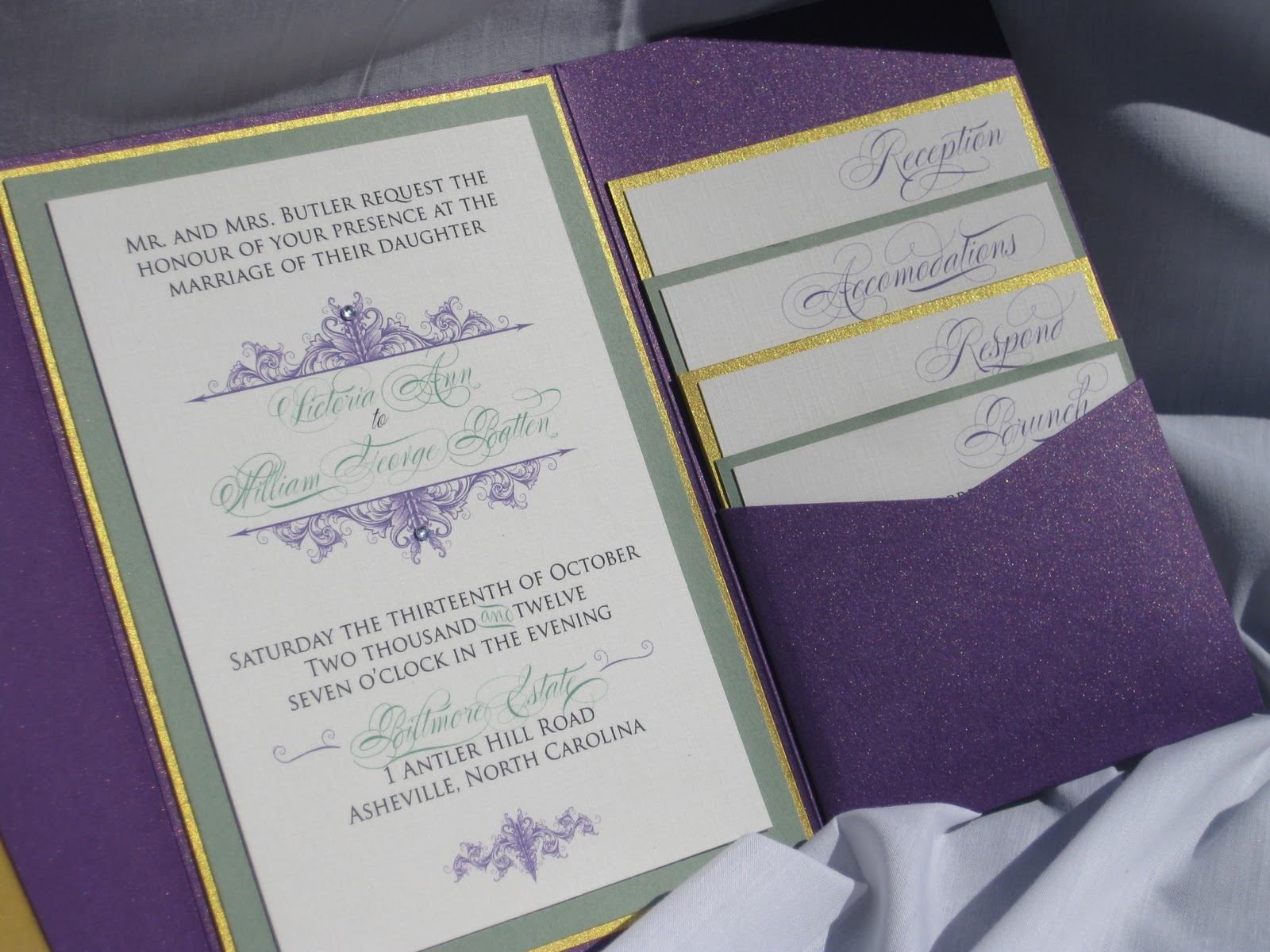 A Biltmore Wedding invitation suite | Izzy Designs, LLC