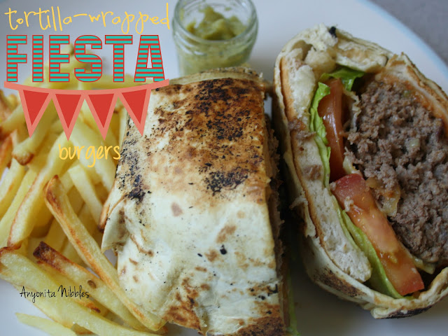 Tortilla-Wrapped Fiesta Mexican Burgers