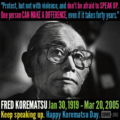 Fred korematsu quotes