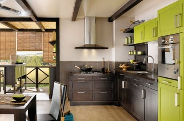 Modern kitchen color schemes the kitchen design for Contemporary kitchen colours