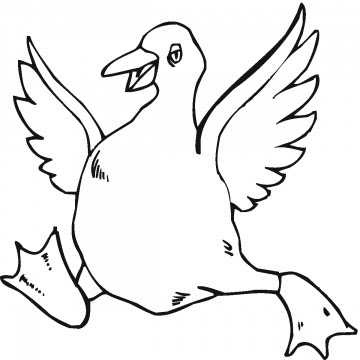 geese coloring pages for kids - photo#20