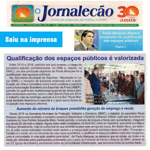 Jornalecão destaca ações de Paulo Marques