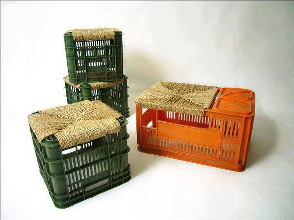 Ecomania blog sillas sillones y taburetes reciclados - Asientos para taburetes ...