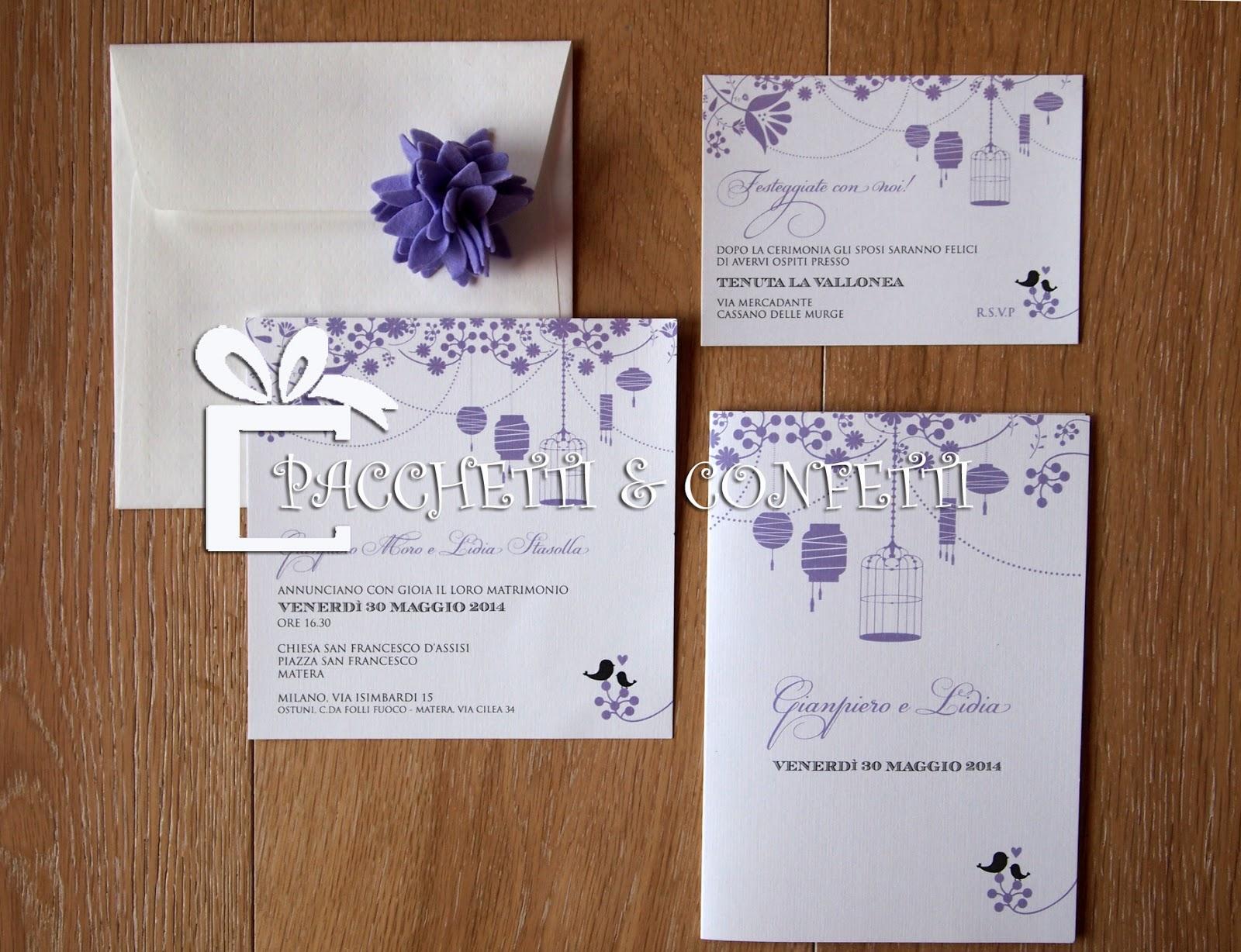 Pacchetti di semi di nozze