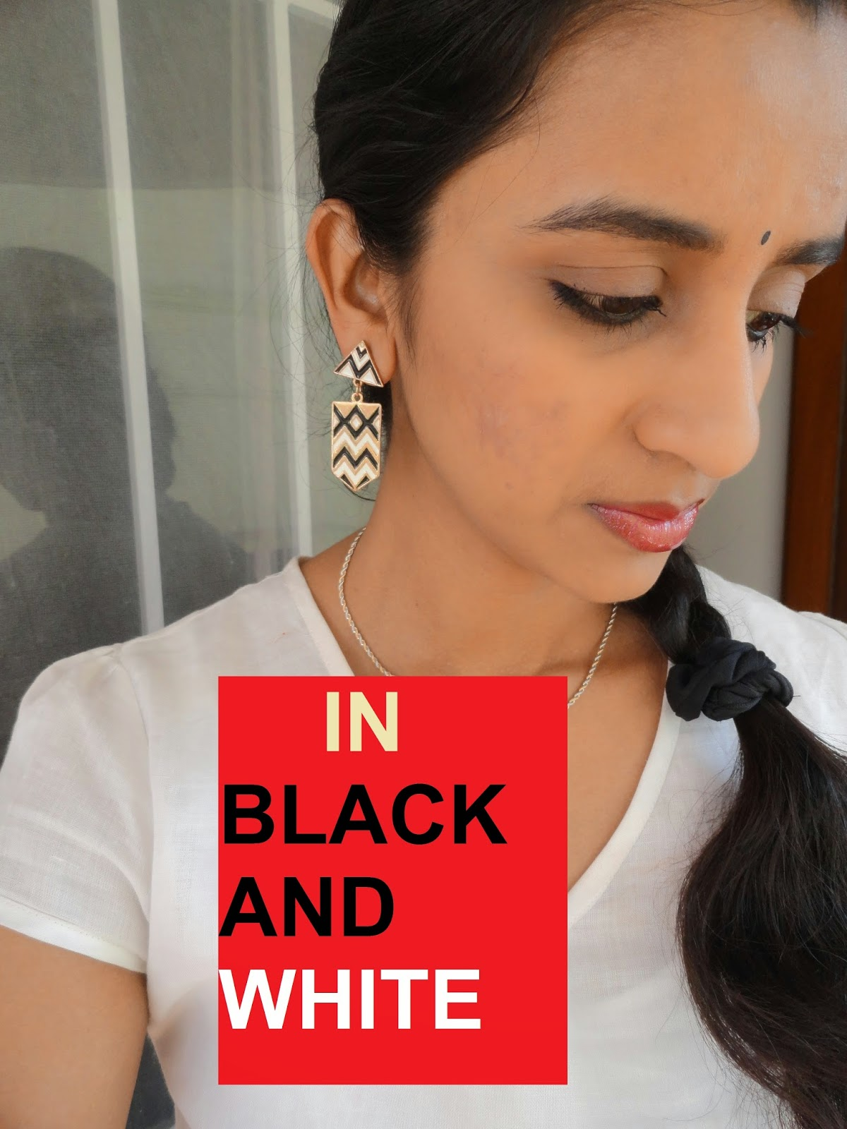LOTD: Black and White featuring earrings from Zotiqq  image