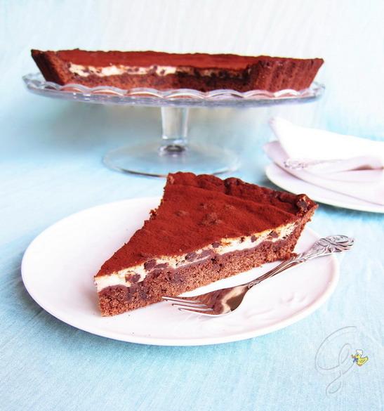 Chocolate ricotta pie - Crostata ricotta e cioccolato