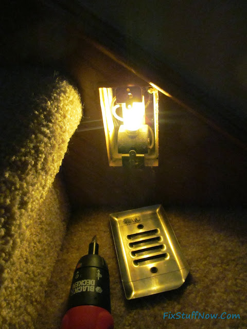 Stairway Lighting Fixture With LED Nightlight Bulb