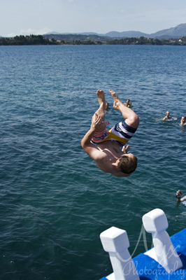 Jumping shots! George's Boat, Corfu