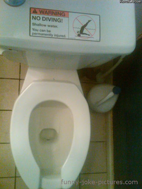 Funny jokes 39 n 39 pictures funny no diving bathroom for Funny bathroom photos