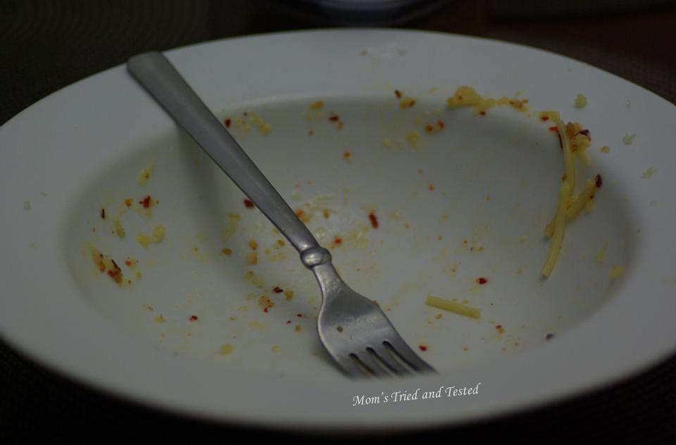 Empty pasta plate
