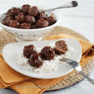 Spicy Meatballs In Pomegranate Bbq Sauce Recipe