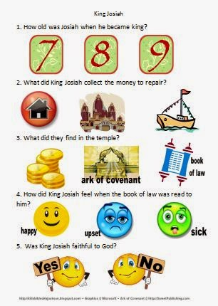 Kids Sunday School Lesson About King Josiah