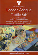 London Textile Society Fair Chelsea Town Hall SW3 5EE Sun 12th October 10.30-4.30
