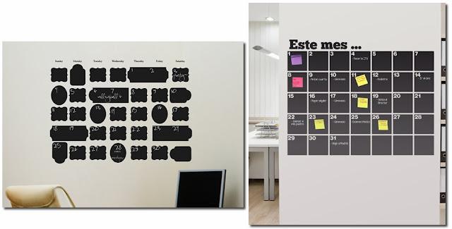 Miss cosillass calendarios de pizarra - Pintura pizarra rotulador ...