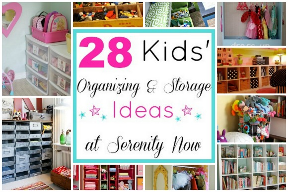 Kids' Toy Organization and Storage Ideas, via Serenity Now blog