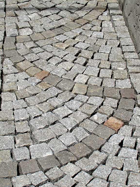 Newly-cobbled street, via delle Navi, Livorno