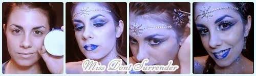 Maquillaje Princesa de Hielo por Miss Dont Surrender collage