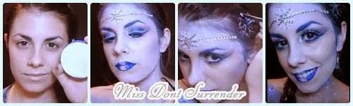 Maquillaje Princesa de Hielo por Miss Dont Surrender collage