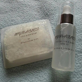 MIRACYLES BEAUTY SET ( COLLAGEN SPRAY DAN SOAP )