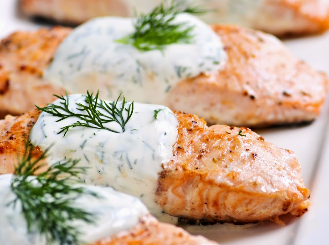 Salmon with Lemon, Butter and Dill Recipe