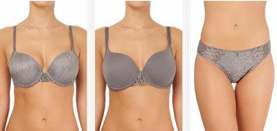 Modelos de lencería Elegant en color gris