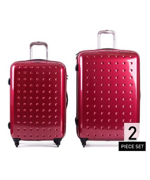 Samsonite Pixel Cube Roller 2 Piece Luggage Set - Wine Red