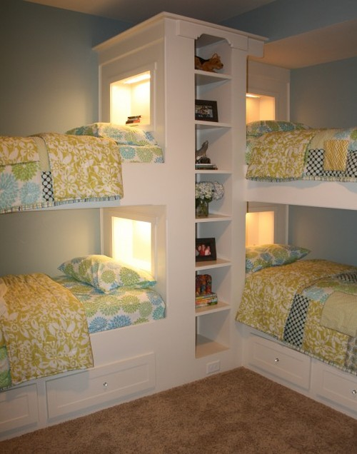 DORMITORIOS PARA 4 - CUATRO CAMAS EN UN DORMITORIO - DORMITORIO PARA 4 - ONE bedroom for 4 by dormitorios.blogspot.com