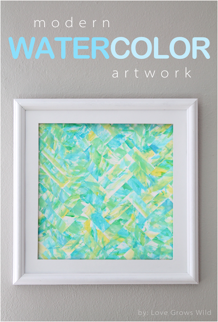 Modern Watercolor Art by Love Grows Wild