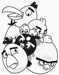 mewarnai gambar angry birds untuk anak