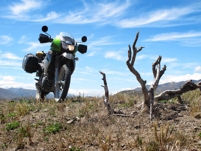 KLR650 TOUR OF NEW ZEALAND - SHOT TAKEN ON A WANDER OFF THE MOLESWORTH ROAD