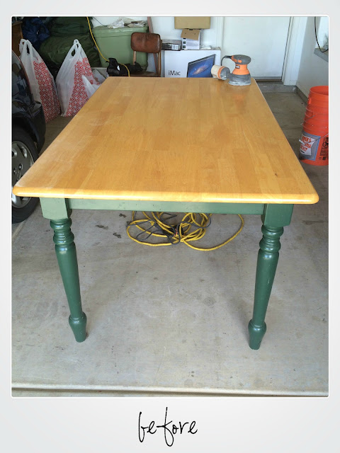 Farm Table Before and After, Make A Desk from a table, general finishes chalk style paint